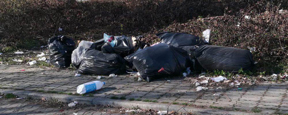 Rimozione discariche abusive e pulizia del parcheggio di via Pastore angolo via Ferrari